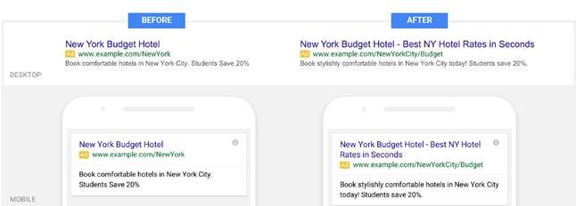 New Google BETA Expanded Text Ads